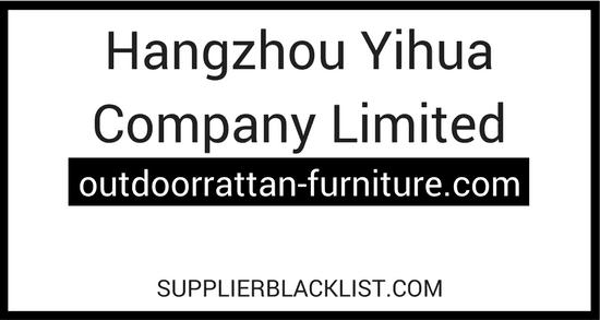 Hangzhou Yihua Company Limited Supplier Blacklist