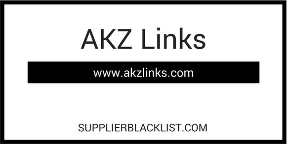 AKZ Links Supplier Blacklist