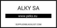 ALKY SA Supplier Blacklist