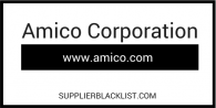 Amico Corporation Supplier Blacklist