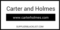 Carter And Holmes Supplier Blacklist