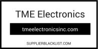 TME Electronics Supplier Blacklist