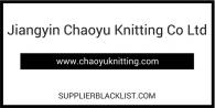 Jiangyin Chaoyu Knitting Co Ltd