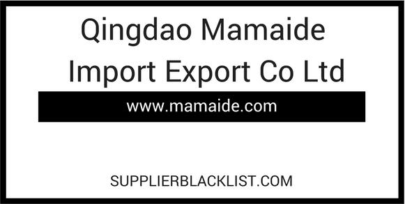 Qingdao Mamaide Import Export Co Ltd