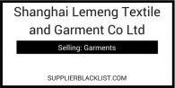 Shanghai Lemeng Textile and Garment Co Ltd