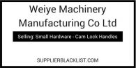 Weiye Machinery Manufacturing Co Ltd