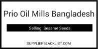 Prio Oil Mills Bangladesh
