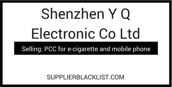 Shenzhen Y Q Electronic Co Ltd