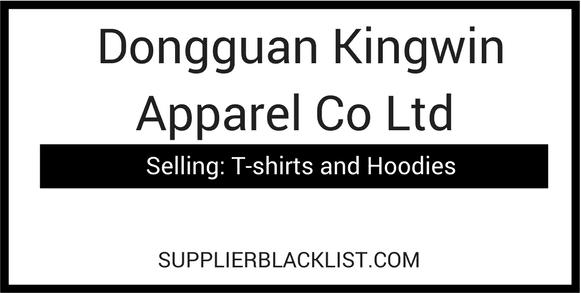 Dongguan Kingwin Apparel Co Ltd