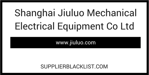 Shanghai Jiuluo Mechanical Electrical Equipment Co Ltd