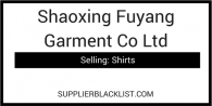 Shaoxing Fuyang Garment Co Ltd