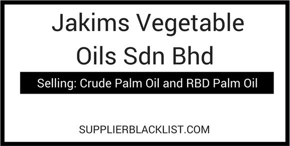 Jakims Vegetable Oils Sdn Bhd