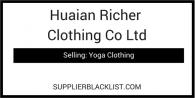 Huaian Richer Clothing Co Ltd