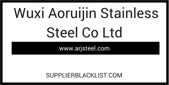 Wuxi Aoruijin Stainless Steel Co Ltd in China