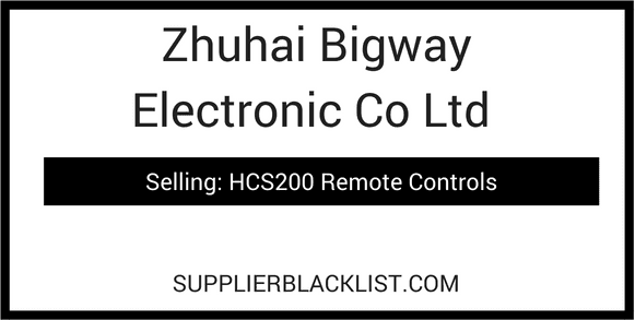 Zhuhai Bigway Electronic Co Ltd