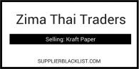 Zima Thai Traders Based in Nayaiyarn