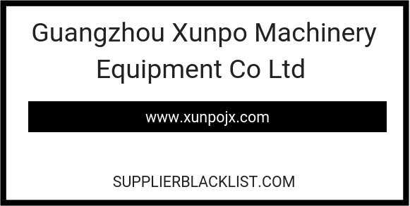 Guangzhou Xunpo Machinery Equipment Co Ltd