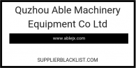 Quzhou Able Machinery Equipment Co Ltd