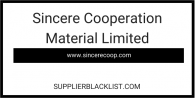 Sincere Cooperation Material Limited