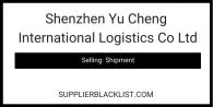 Shenzhen Yu Cheng International Logistics Co Ltd