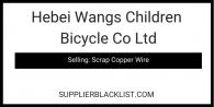Hebei Wangs Children Bicycle Co Ltd Scrap Copper Wire