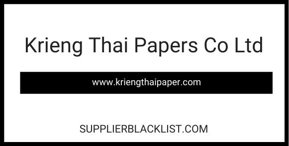 Krieng Thai Papers Co Ltd
