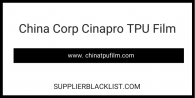 China Corp Cinapro TPU Film