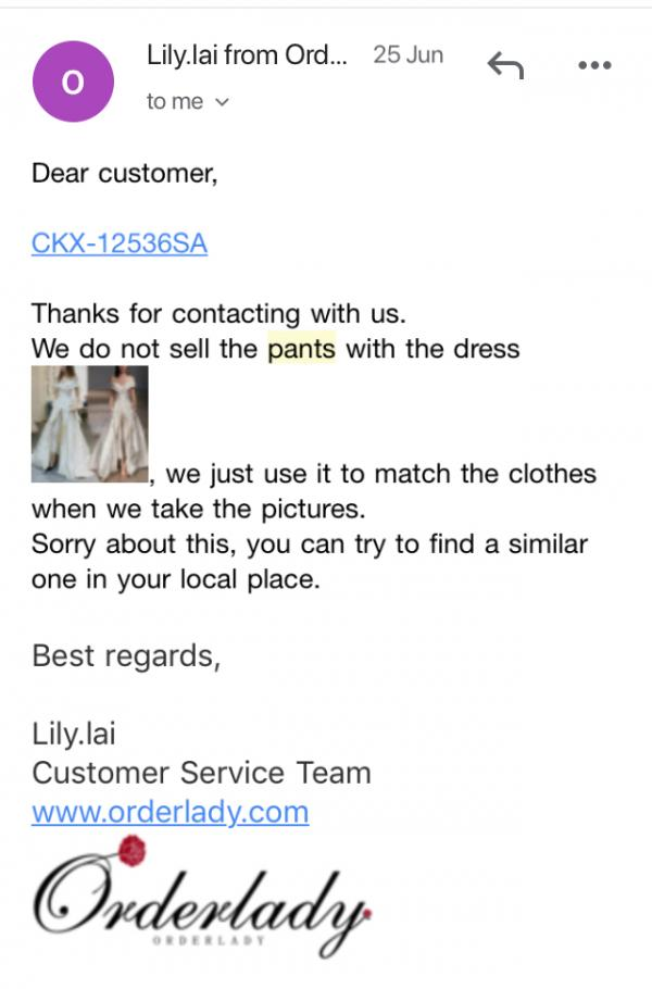 Looking for information while you are performing due diligence on Orderlady from Guangdong China who sells Clothes Online?