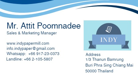 Looking for information on the company Indy Paper Mill who is based in Thailand that sells A4 Copy Paper?